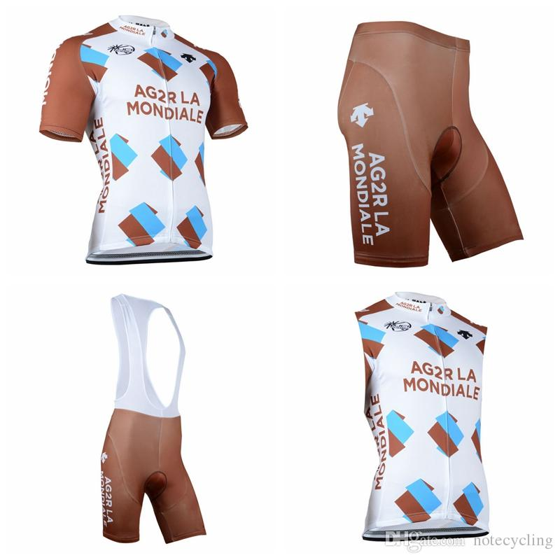 640b50c1a AG2R Team Cycling Short Sleeves Jersey Bib Shorts Sleeveless Vest Sets  Cycling Clothes Comfortable And Breathable Hot New Products A41301 AG2R  Cycling ...