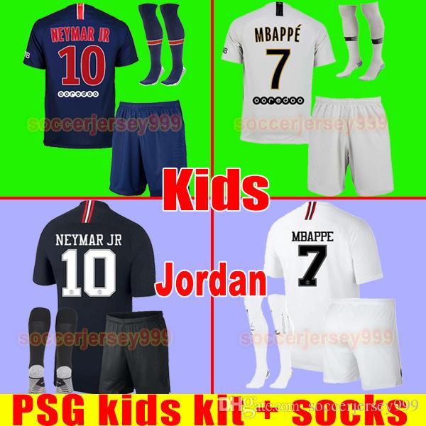 Compre PSG AIR JORDAN Soccer Jersey Football Shirt Paris Saint Germain Kids  Chandal 2018 2019 18 Conjuntos De Juegos De Niños Uniformes De Neymar Jr  MBAPPE ... ff7a30c638af1