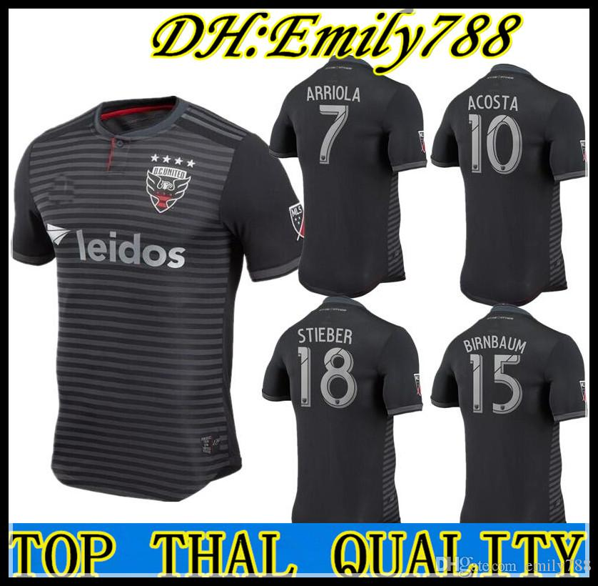 ef01d501b62 2019 2018 DC UNITED ROONEY 9 SOCCER JERSEYS D.C. D C UNITED PLAYER VERSION  BIRNBAUM HARKES ACOSTA 10 18 19 JERSEY HARKES STIEBER FOOTBALL SHIRTS From  ...