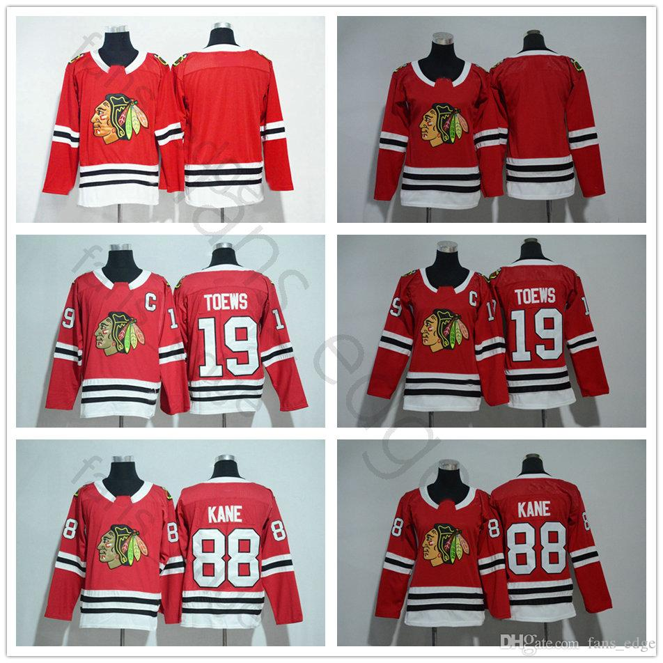2019 2018 New Chicago Blackhawks Ice Hockey Jerseys 19 Jonathan Toews 88 Patrick  Kane Home Red Blank Men Women Kids Youth Jerse From Heimei shop 9dc07bbb2ac64