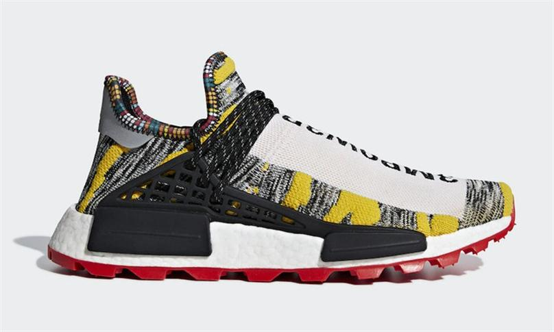 half off aa75f 8d4f4 2018 Top Pharrell Williams X Originals Nmd Hu Trial Pack Solar Moth3r  M1l3l3 Human Race Hombres Mujeres Zapatillas Authentic Sneakers With Box  Por ...