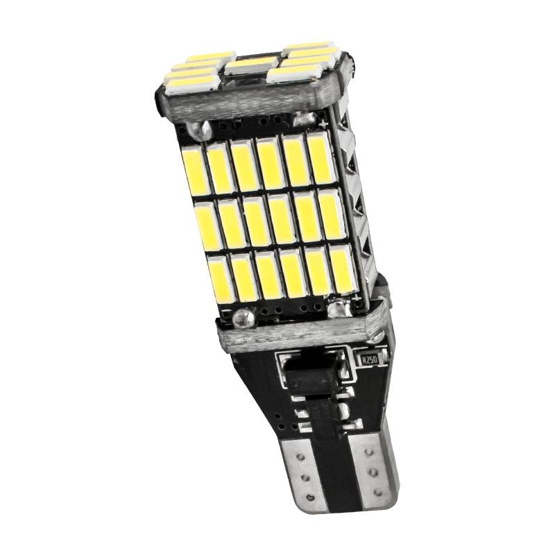 Signal Lamp T15 W16W 921 Super Bright 45 SMD 4014 LED CANBUS NO ERROR Car Tail Brake Lights Auto Backup Reverse Lamp