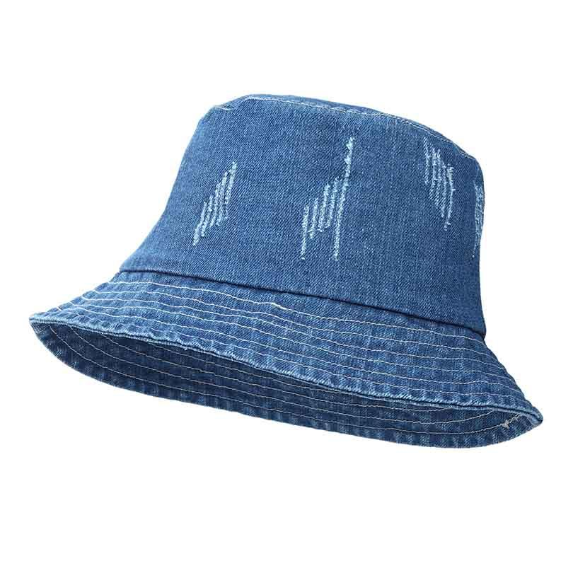 e67c0dfdf1e Jeans Bucket Hat Fashion Summer Women Washed Denim Sun Hat Floppy Cap Wide  Brim Foldable Sun Proof K Pop Fishing 2018 Beach Hats Sun Hats For Women  From ...