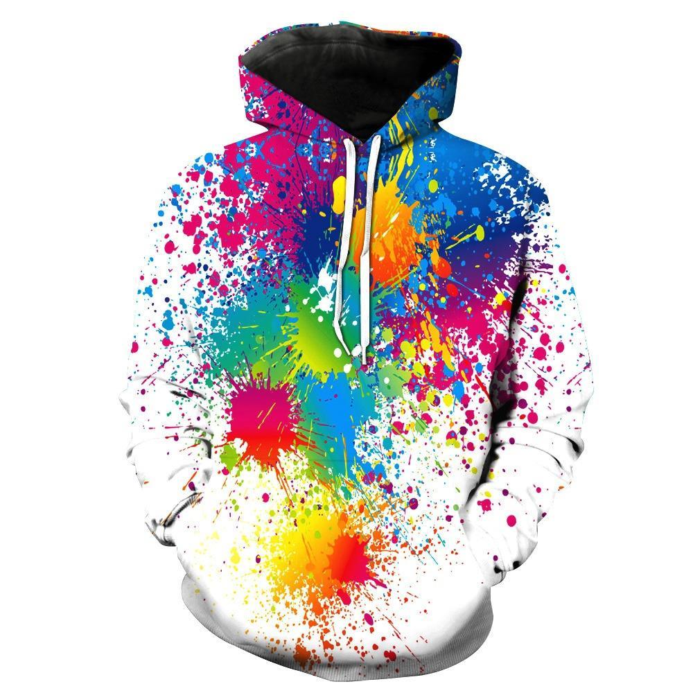 2018 Youth Graffiti Hoodie Men Women 3D Hooded Hoodies Sweatshirts Abstract Oil Printed Funny Hooded Hoodies Harajuku Sweatshirts