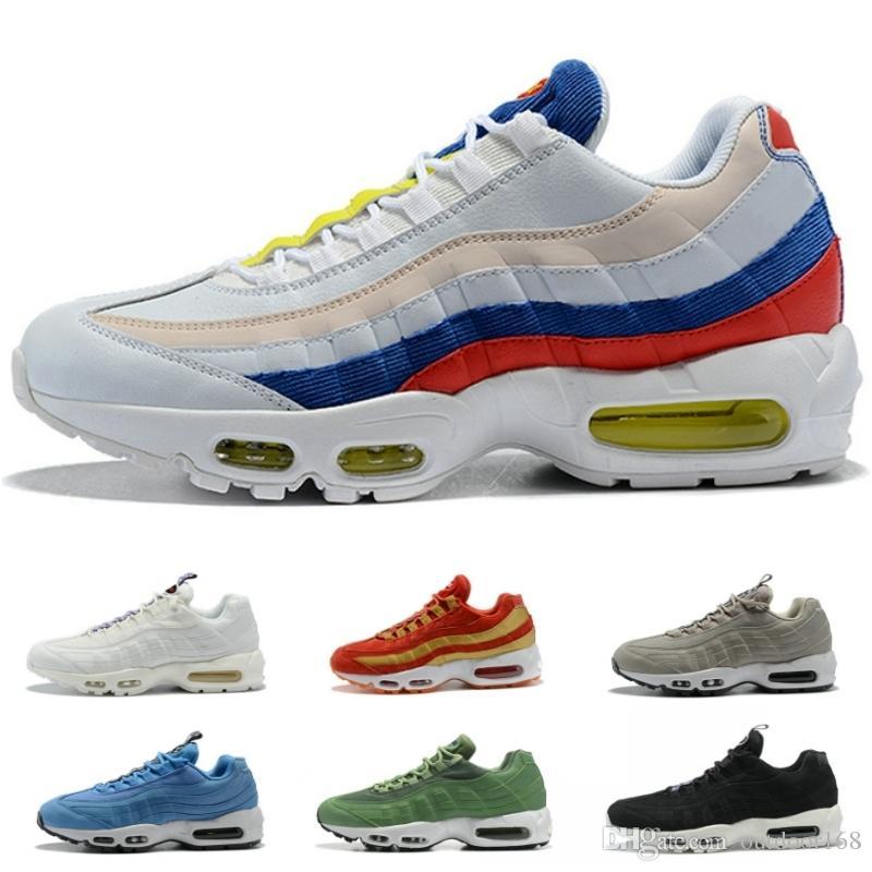 167053df921a24 Best Quality 95 OG Men Running Shoes Multi Design Blue White Rrd Green  Wholesale Women Outdoor Athletic Sneaker Trainer Basketball Shoes Running  Shoes Men ...