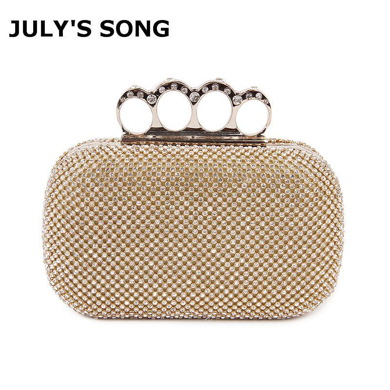 Crystal Evening Bag Clutch Bags Clutches Wedding Purse Rhinestones Wedding  Handbags Silver Gold Black Finger Ring Evening Bag Overnight Bags Bags For  Women ... 53c556eb313a