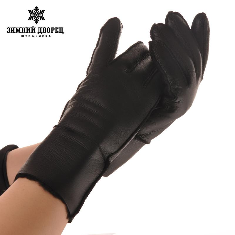 Apparel Accessories 2019 Winter Women Gloves Sheepskin Fur Warm Glove Ladies Full Finger Genuine Leather Gloves Mitts Ski Gloves Water Proof