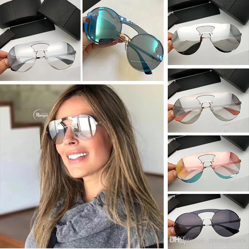 8d5190ea41fde Compre 2018 New Arrival Alta Qualidade Prada SPR 65TS Designer De Marca  Mulheres Óculos De Sol De Luxo Homens Óculos De Sol Com Caixa Original  Lunette De ...