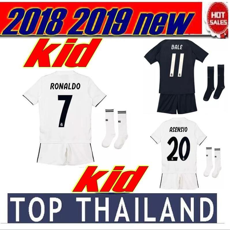 682a8c4126 18 19 Real Madrid 2019 Kit Para Niños JERSEYS SOCCER ASENSIO Ronaldo 2018  Camiseta De Fútbol Bale MODRIC SERGIO RAMOS Niño CAMISETAS DE FÚTBOL Por  Wa0001, ...