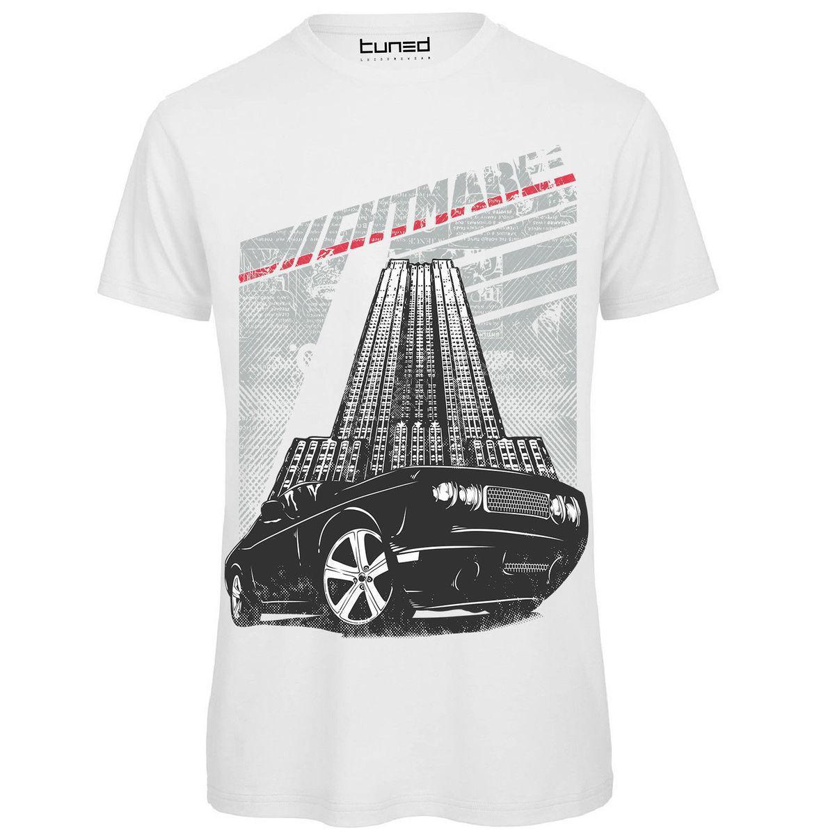 6fa8cc194d T Shirt Divertente Uomo Maglietta Cotone Con Stampa Vintage Nigth Car Tuned  Sleeve Men T Shirt Fashion Men Lastest