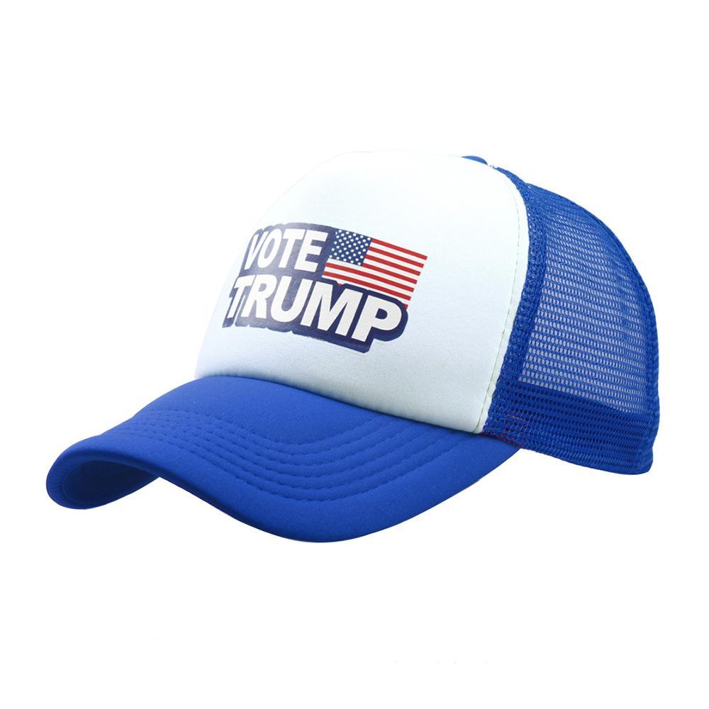 Donald Trump Mesh Baseball Caps Vote Trump Logo American Flag Hats Unisex  Adults Adjustable Snapback Sport Trucker Hat 6 Colos Lids Hats Visors From  ... 7692b4552448