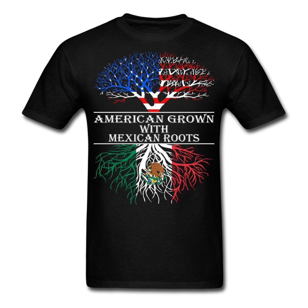Compre Crecido Americano Con Raíces Mexicanas Camiseta De Los Hombres  Camiseta De La Marca De Fábrica De Harajuku Del Inconformista Camiseta De  La ... 827c00a060a28