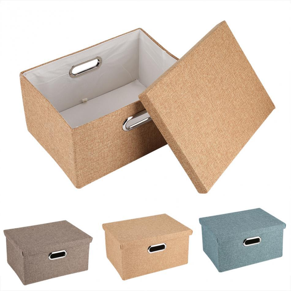 Foldable Fabric Storage Box Bin Basket Toy Clothes Towel Laundry Box  Container Bedroom Gadget Storage Box