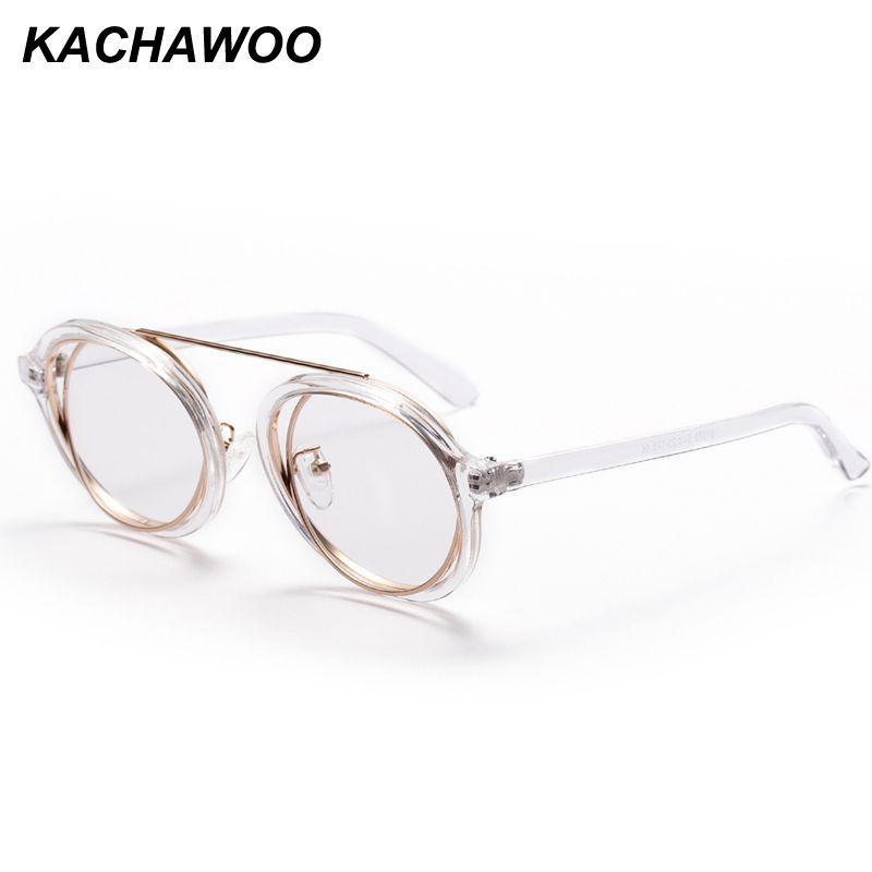 d0b45ca8dcc 2019 Kachawoo Mens Round Eyeglasses Frames Men Vintage Retro Round Eyewear  Women Accessories 2018 Oculos Feminino Transparente From Mudiaolan