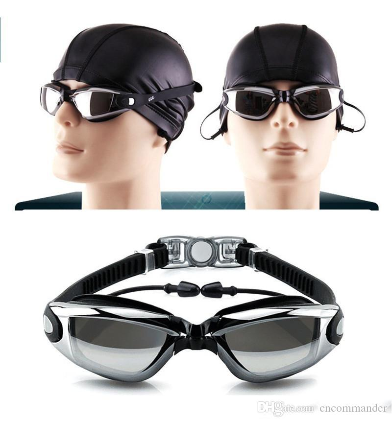 491c42b110c8 2019 Swim Goggles Swimming Glasses Glasses Men Women Water Goggles Water  Sports Beach Swimming Tools Leisure Electroplate With Earplugs From  Cncommander