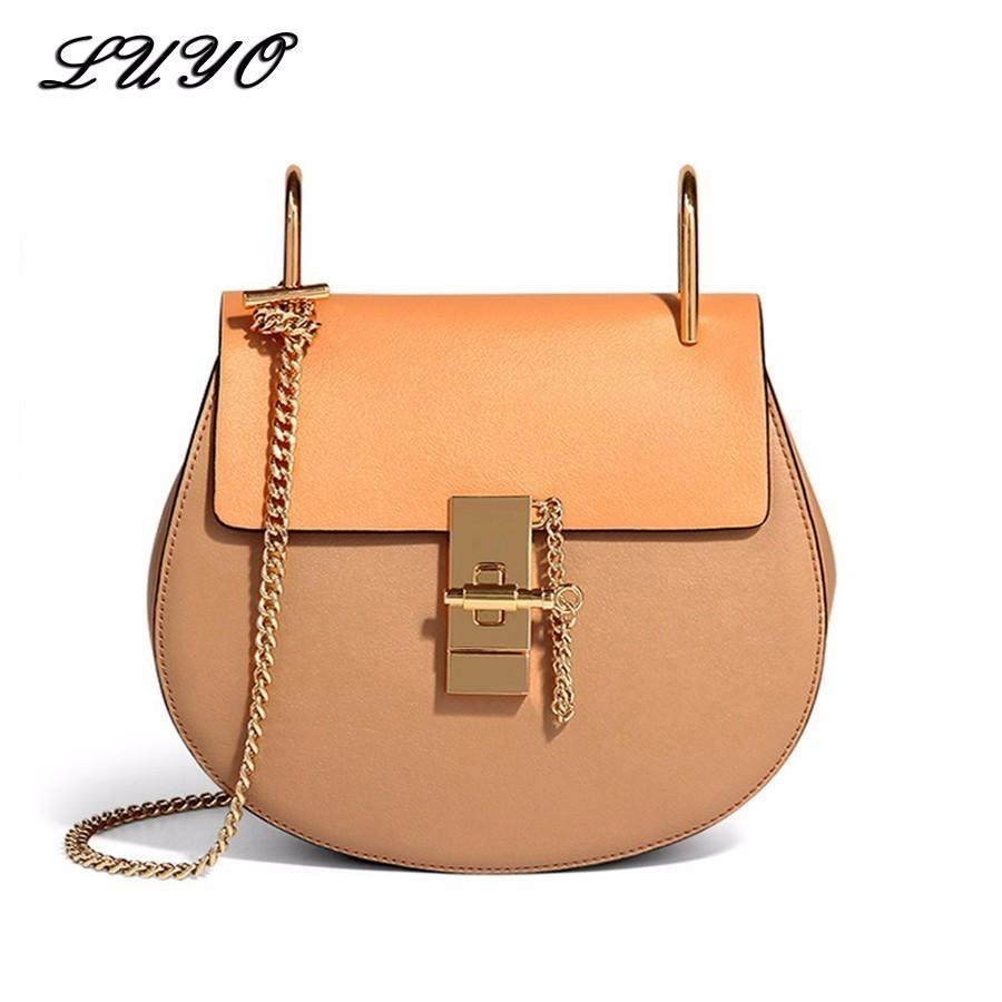 2019 LUYO Famous Brand Luxury Handbags Women Bags Designer Genuine Leather  Cloe Bag High Quality Shoulder Bag Small Chain Bag Cloe Handbags Wholesale  ... 9e8300f667083