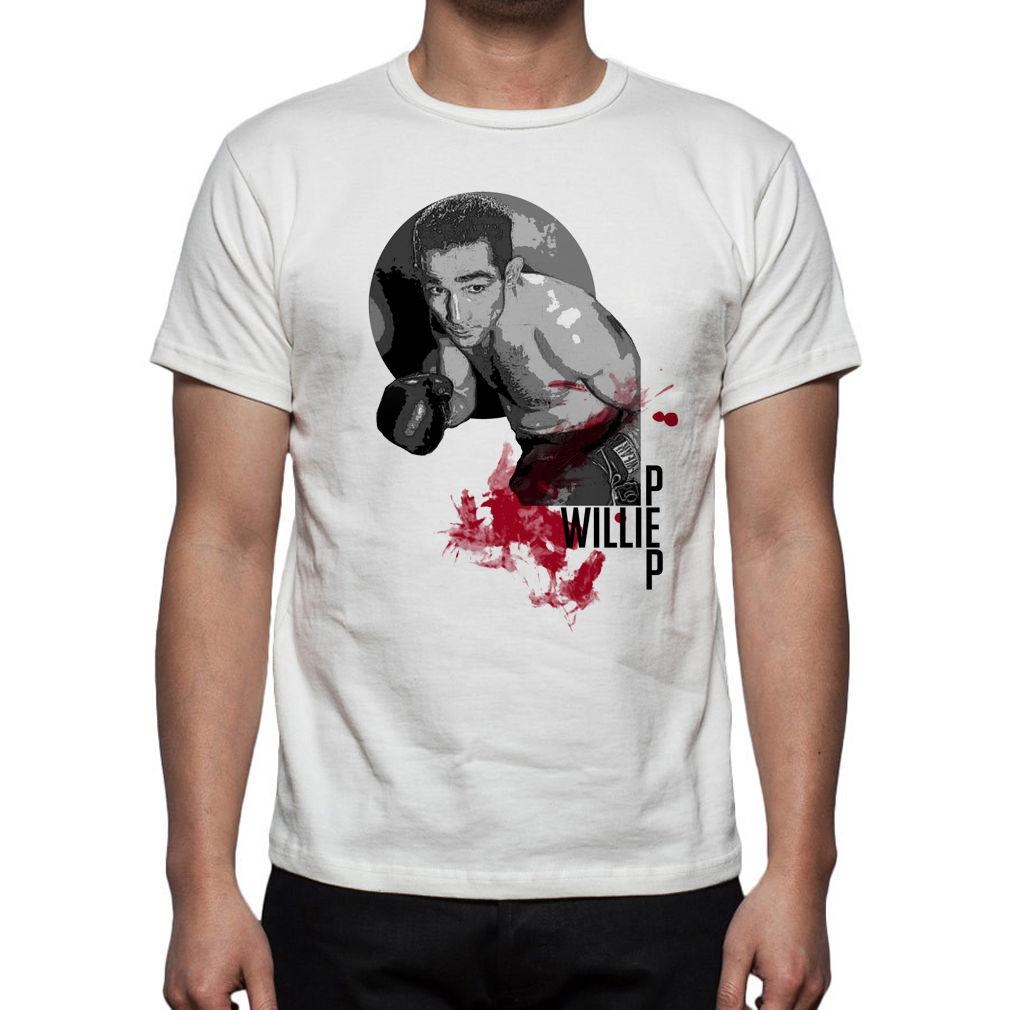 Men's Boxing Willie Pep Tribute T-Shirt M87 Mens 2018 fashion Brand T Shirt O-Neck 100%cotton T-Shirt