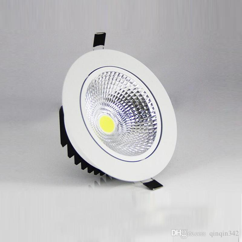 5W 7W 9W 12W regulable LED Downlight 110v 220v Spot LED DownLights Comercio al por mayor regulable cob LED Spot Empotrable abajo luces blanco
