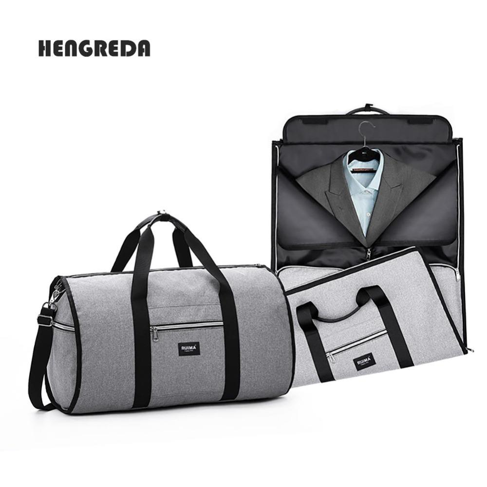 Unisex 2 In 1 Garment Bag Men Foldable Luggage Bag Travel Hanging Duffel  Totes Carry On Leisure Hand Shoulder For Travel Bags Online Shopping Travel  Duffel ... 8c304001d36ef
