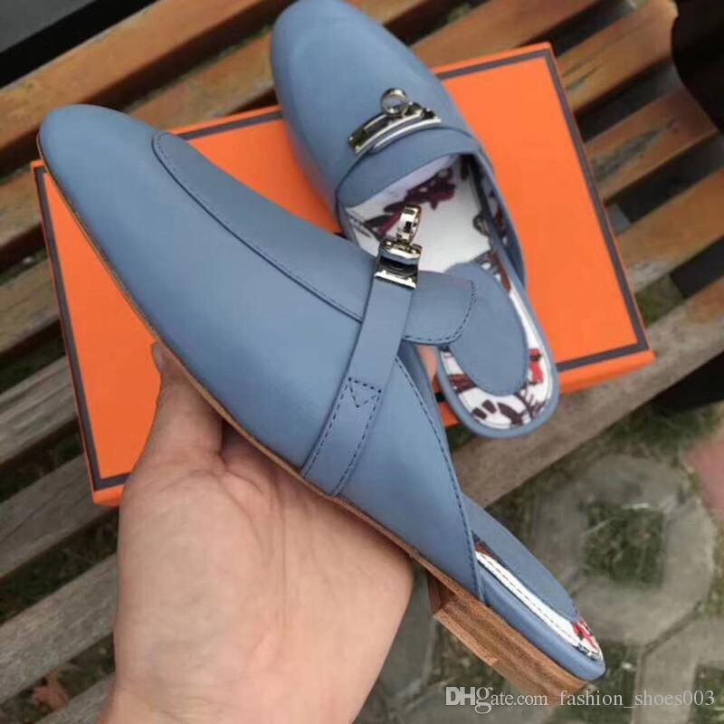 2018 pantofole donna nuova con pelle bovina bello stile Infradito estate Fashion Design infradito pantofola di alta qualità 35-40