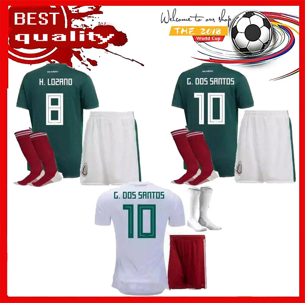 2018 World Cup Mexico CHICHARITO Soccer Jersey Adult Kits Home G.DOS ... 1491de6eb