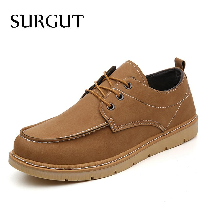 Men Fashion Lace Up Business Work Leather Shoes Loafer