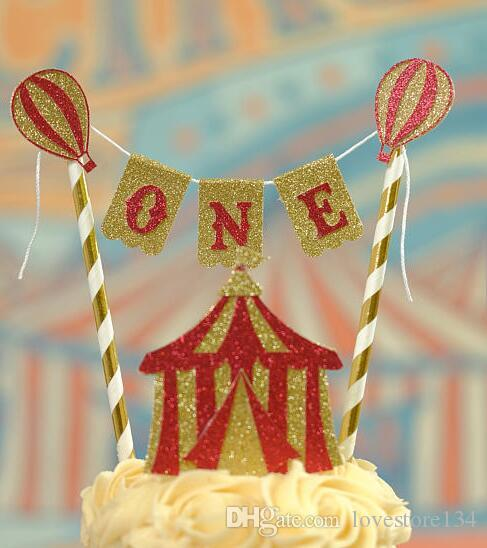 Personalized Vintage Circus Birthday Cake Buntings Cupcake Toppers Banners Baby Shower Party Decoration Doughnut Food Picks Shop Online