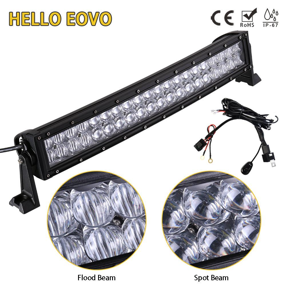 Hello Eovo 5d 22 Inch Curved Led Light Bar For Work Driving Offroad Wiring Boat Lights Car Tractor Truck 4x4 Suv Atv With Switch Kit Lighting Source