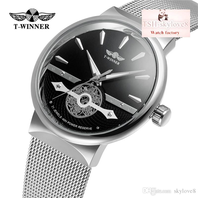 Top5-WINNER brand new fashion men's automatic mechanical form hollow network with a classic watch fashion watch party gifts