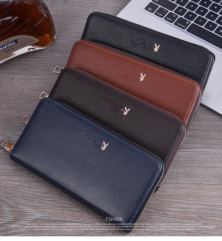 2018 New mobile phone bag large capacity zip compartment clutch bag fashion multi-card zipper card package long wallet