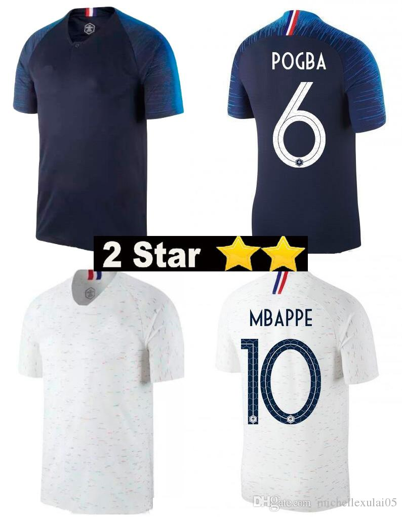... 2 star national team mbappe soccer jersey griezmann pogba giroud football  shirts adult fr top thai 632e695d8