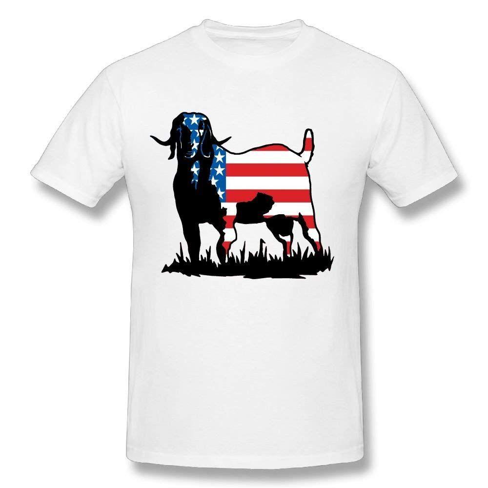 97adeae7 Funny Men's Colorrado Boer Goat Flag 100% Cotton Prints Casual Short Sleeve  T-shirt Print Casual T Shirt Men Brand