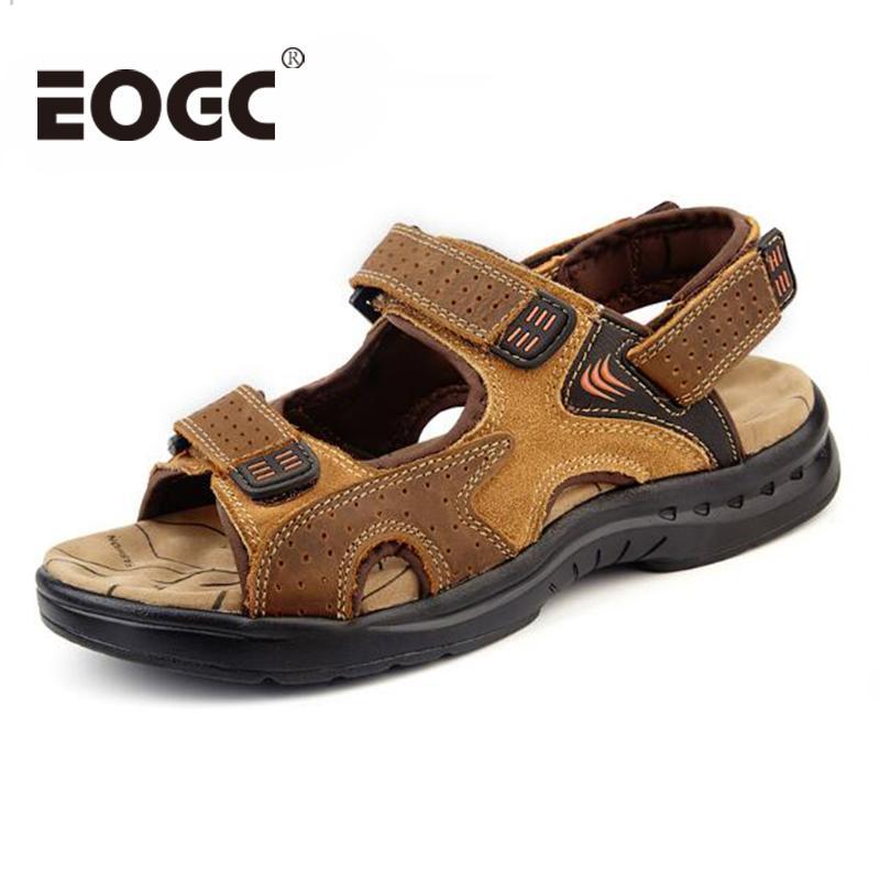 Cuero Genuino Verano Pisos Sandalias Hombres De Zapatos Compre qPv61HRwxn