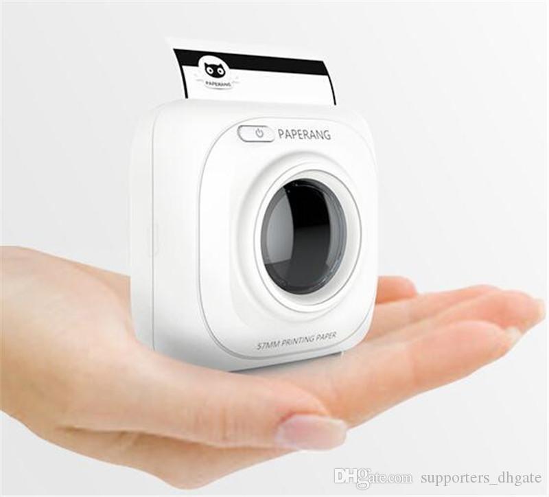 Mini Impressora térmica Bluetooth 4.0 PAPERANG P1 Telefone de Recibo Portátil etiqueta Sem Fio Impressoras de fotos preto branco 1000 mAh Lithium-ion DHL