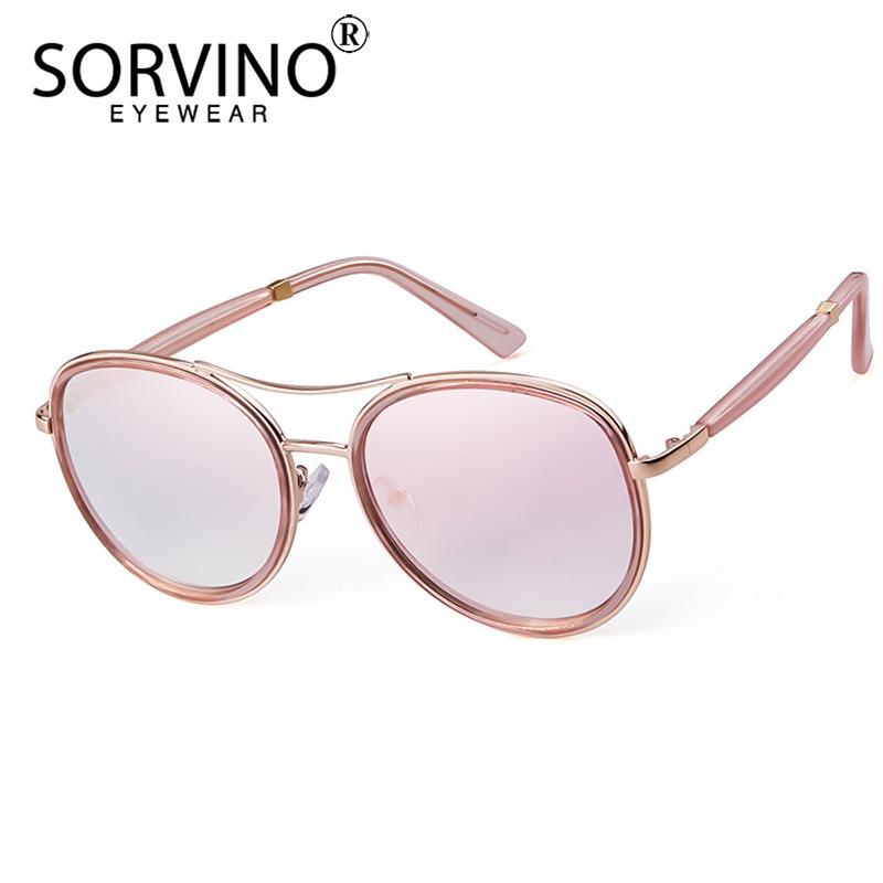 a0012dbb2d5d SORVINO Retro Designer Pilot Sunglasses Women Men 2018 Oversized ...