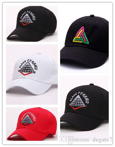 1f4a23a281d21 Good Sale New Style Adjustable Men Hats Hip Hop Unisex Pyramid Baseball  Caps Casual Black White Red Diamond Hat Custom Trucker Hats Compton Cap  From Dugate7 ...