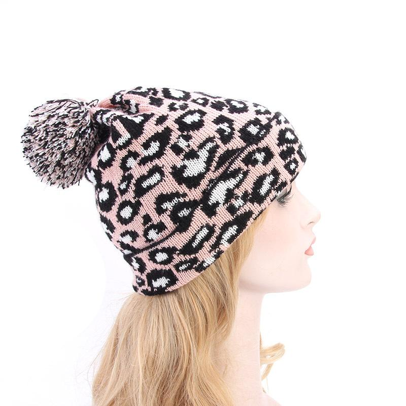 578d8b96 Autumn And Winter New Ladies Leopard Wool Hats, Wild Fashion Balls,  European And American Popular Winter Hats Fitted Caps Knit Hats From  Jie1981, ...