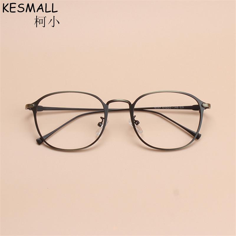 d654be621b3 2019 KESMALL 2017 Vintage Optical Glasses Frame Men Woman Alloy Oval Thin Frame  Eyeglasses Fashion Clear Lens Myopia Oculos BY202 From Newcollection