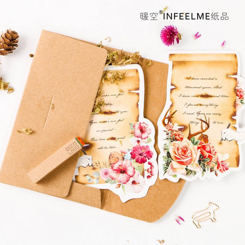 2019 /Pack Novelty Heteromorphism Vintage Love Letter Postcard Greeting  Card Postcard Birthday Letter Envelope Gift Card Set From Happpyzone, ...