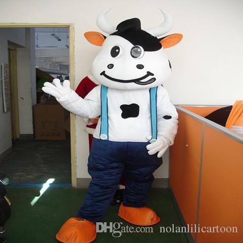 Hochwertige EVA Material Helm Drei stil Mengniu kuh Maskottchen Kostüme Film requisiten party cartoon Bekleidung WS501