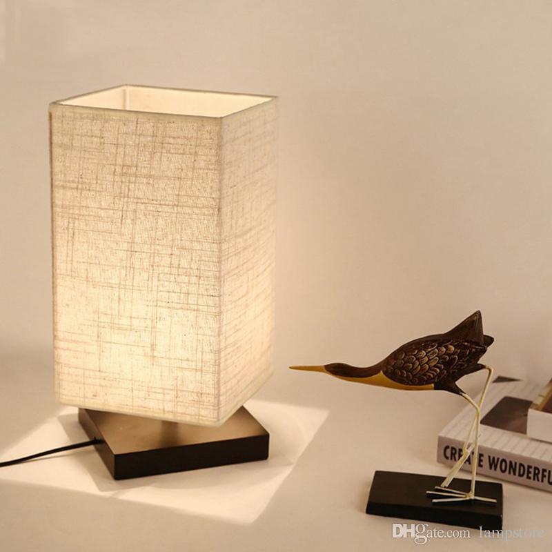 2019 Bedside Table Lamp Minimalist Solid Wood Table Night Light