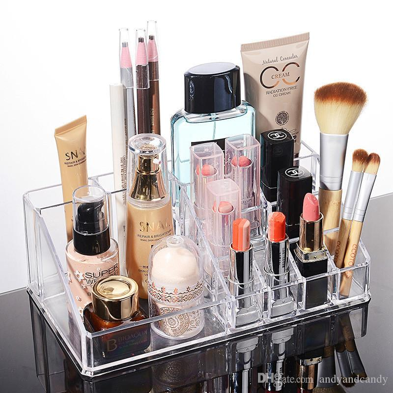 2018 Clear Jewelry U0026 Cosmetic/Makeup Storage Display Boxes Make Up Organizer  For Bathroom, Dresser, Vanity And Countertop From Andyandcandy, $5.62 |  Dhgate.