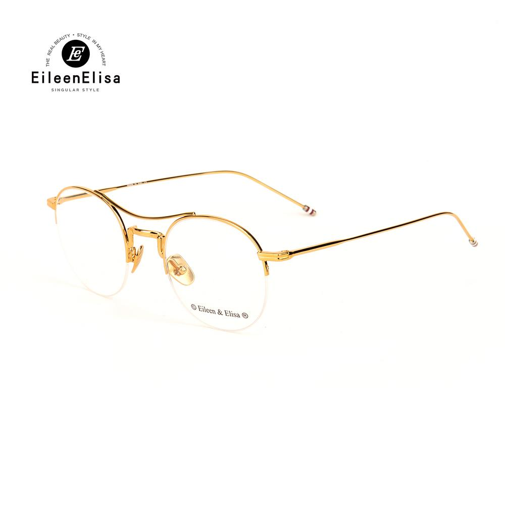 113808bfd5e 2019 EE Optical Glasses Frame Men Half Frame Glasses Clear Lens Gold Frames  For Women Eyeglasses Female Spectacle From Lbdwatches