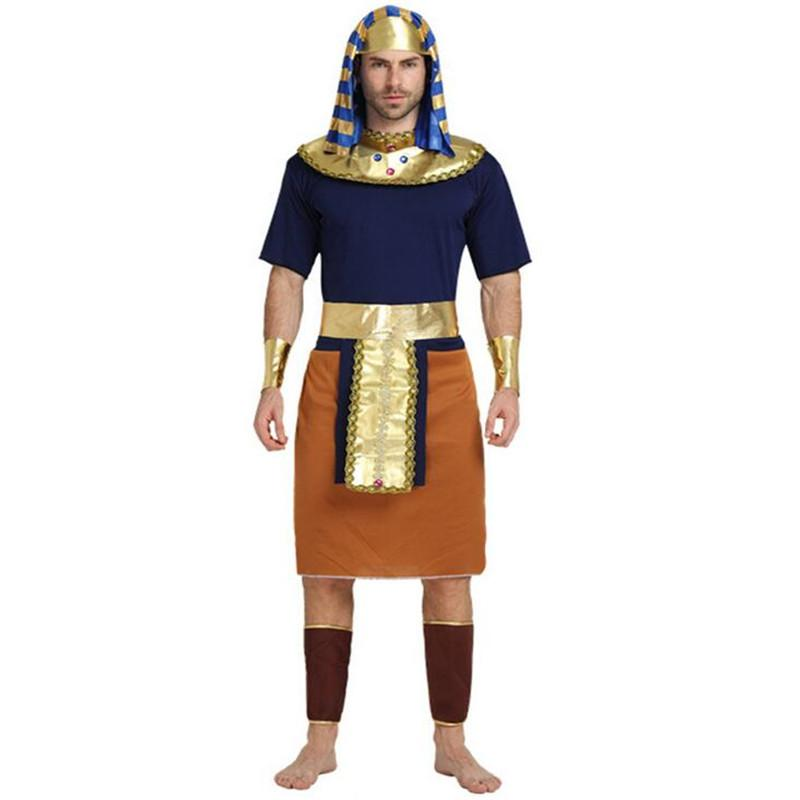 f418670ef 2017 New Egypt Costume Men Orange Pharaoh Costume Adult Cosplay Halloween  Carnival Costumes Fancy Dress Party Supplies Halloween Costumes For 6  People Group ...