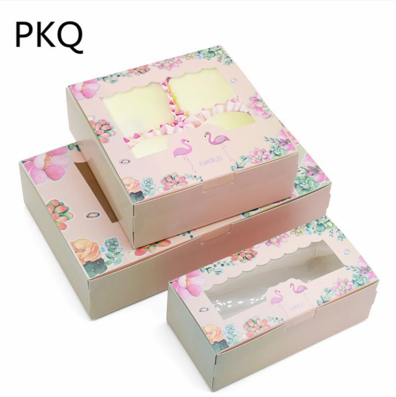 5 31 Pink Flower Design Paper Box Cupcake Wedding Cake Boxes Party