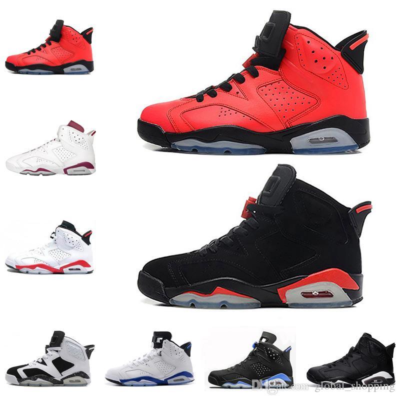 Wholesale 2018 Shoes 6 6s Wheat Basketball Shoes Men Sneaker UNC ... 0203ab056b