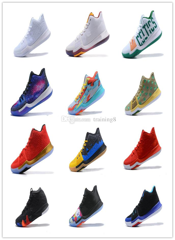 7ff68dd08ec 2019 2018 New Kyrie Irving 3 Basketball Shoes For Cheap Sale Sneakers  Sports Mens Shoe Wolf Grey Team Red Outdoor Trainers BasketBall Boots Box40  From ...