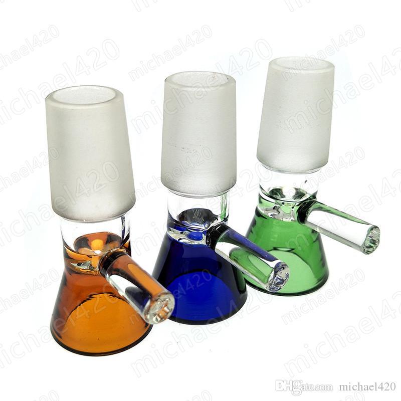 유리 봉 그릇에 깔때기 그릇 파이프 유리 봉 sms 믹스 색상 heady 도매업 오일 rigs 조각 14mm 18mm