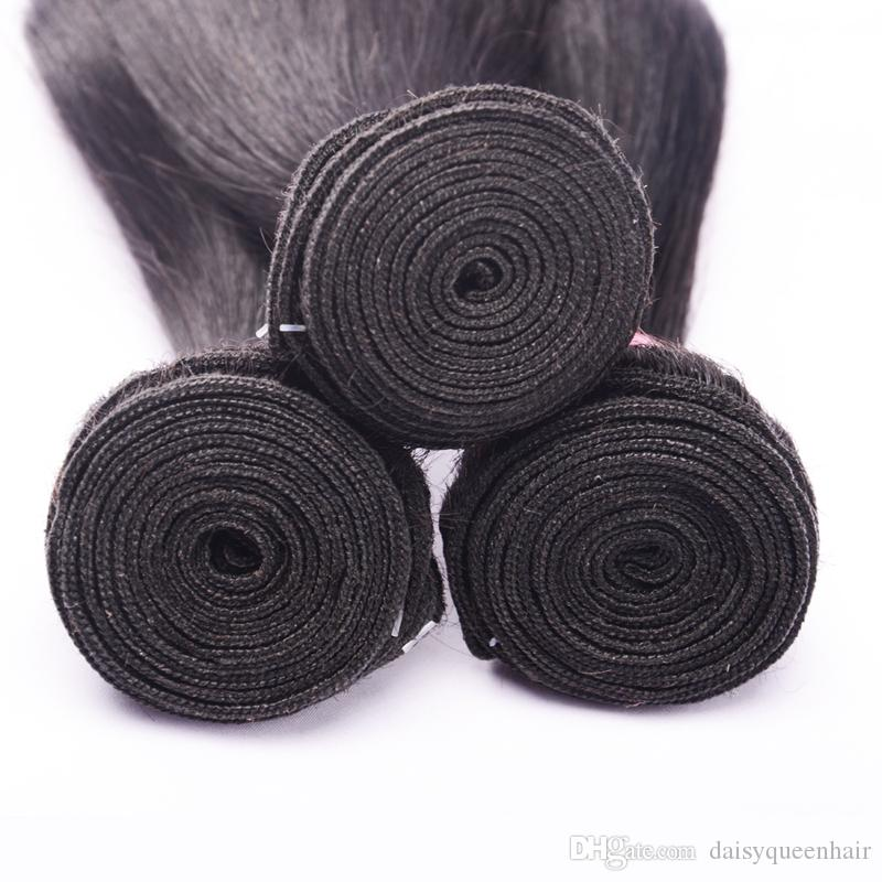 Raw Indian Straight Hair Bundles Human Hair Extensiosn Unprocessed 8A Indian Remy Hair Weave Bundles Natural Color
