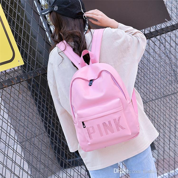 Pink Style Girls Backpacks PU Waterproof Travel Bags Teenager Travel  Backpack Students School Bags Sequins Girls Backpacks Travel Bags School  Bags Online ... bd60c940c8